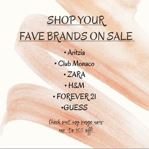 Buy your fave brands at a great discount!